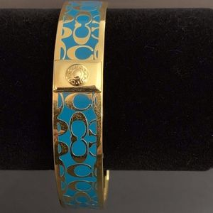 Turquoise and Gold Coach Bracelet